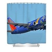 Southwest Boeing 737-7h4 N727sw Nevada One Phoenix Sky Harbor October 14 2017 Shower Curtain