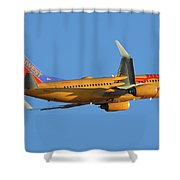 Southwest Boeing 737-7h4 N781wn New Mexico One Phoenix Sky Harbor November 11 2017 Shower Curtain