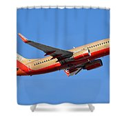 Southwest Boeing 737-7h4 N792sw Retro Gold Phoenix Sky Harbor January 21 2016 Shower Curtain