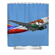 Southwest Boeing 737-7h4 N943wn California One Phoenix Sky Harbor October 16 2017 Shower Curtain