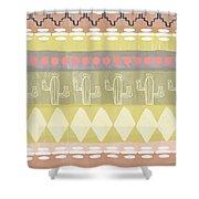 Southwest Cactus Decorative- Art By Linda Woods Shower Curtain