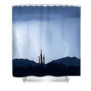 Southwest Desert Lightning Blues Shower Curtain