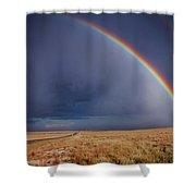 Southwest Double Rainbow Shower Curtain
