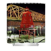 Southwest Reef Lighthouse, Berwick, Louisiana Shower Curtain