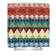 Southwest With Bears- Art By Linda Woods Shower Curtain