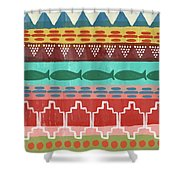 Southwest With Fish- Art By Linda Woods Shower Curtain by Linda Woods