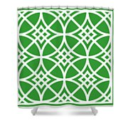 Southwestern Inspired With Border In Dublin Green Shower Curtain