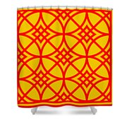 Southwestern Inspired With Border In Mustard Shower Curtain