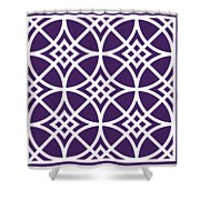 Southwestern Inspired With Border In Purple Shower Curtain