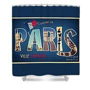 Souvernirs De Paris Shower Curtain