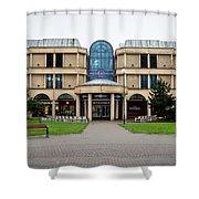 Sovereign Shopping Centre - Entrance From The Garden Shower Curtain