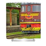 Soviet Era Train In Haapsalu Estonia Shower Curtain