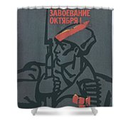 Soviet Russian Vintage Posters Shower Curtain