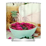 Spa Composition Shower Curtain