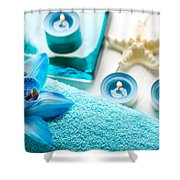 Spa Still Life With Towel And Candles Shower Curtain