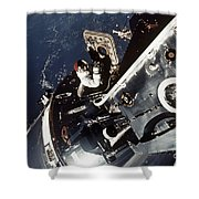 Space: Apollo 9 Shower Curtain