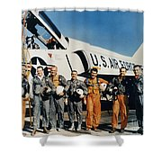 Space: Astronauts, C1961 Shower Curtain