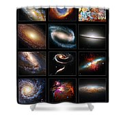 Space Beauties Shower Curtain