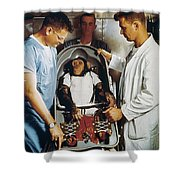 Space: Chimpanzee, 1961 Shower Curtain