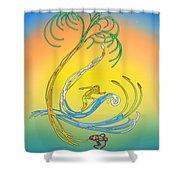 Space Coast Florida Shower Curtain