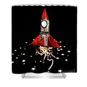 Space Craft Shower Curtain