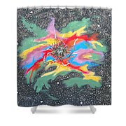 Space Garden Shower Curtain