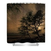 Space Ghosts Shower Curtain by T Brian Jones