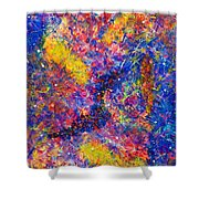 Space Glitter 15-14 Shower Curtain