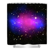 Space Image Galaxy Cluster Purple Blue Black Shower Curtain