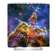 Space Image Mystic Mountain Carina Nebula Shower Curtain