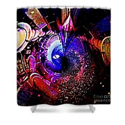 Space In Another Dimension Shower Curtain