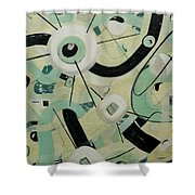 Space Junk Shower Curtain