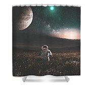 Space Man Shower Curtain