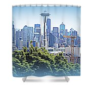 Space Needle 3 Shower Curtain