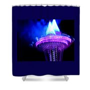 Space Needle Fireworks Shower Curtain