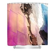 Space Needle Reflection Shower Curtain