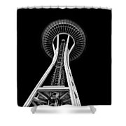 Space Needle Shower Curtain by Rod Sterling