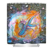 Space Ocean Shower Curtain