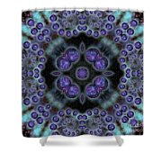 Space Ornament Shower Curtain