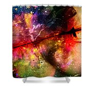 Space Pirate Emerges Shower Curtain