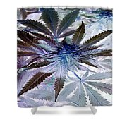 Space Plant Shower Curtain