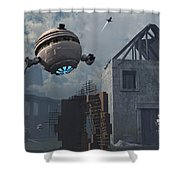 Space Probes And Androids Survey An Shower Curtain by Mark Stevenson