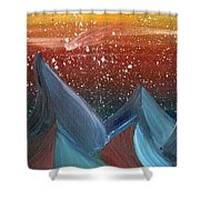 Space Scape Shower Curtain