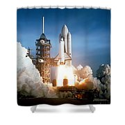 Space Shuttle Columbia - First Launch 1981 Shower Curtain