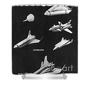 Space Shuttle Concepts Illustration Showing Late 1960s Designs Part Of The Phase A  A Prime Process Shower Curtain
