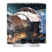Space Shuttle Discovery View No. 2 Shower Curtain