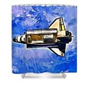 Space Shuttle In Space - Da Shower Curtain