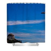 Space Shuttle Over Griffith Observatory Shower Curtain