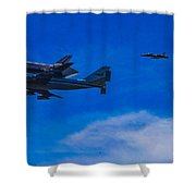 Space Shuttle Over Griffith Park Shower Curtain