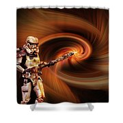 Space Soldier Shower Curtain
